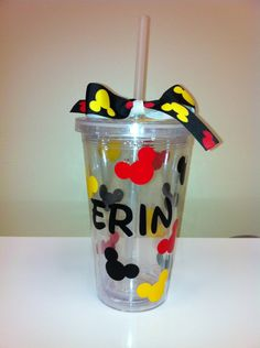 Personalized Disney Tumbler Cup Glass by MakinItSassy on Etsy, $8.00