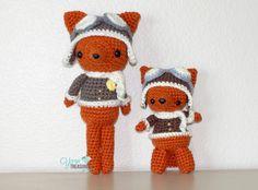 #Free #crochet aviator fox pattern. So cute!!!