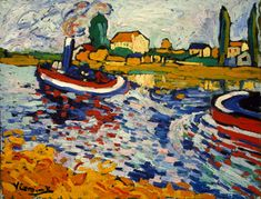 Tubboat on the Seine, Chatou by Maurice de Vlaminck