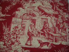 Toile de jouy rouge