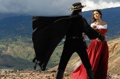 Christian Meier as Zorro and Marlene Favela as Esmeralda.