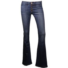Bailey Medium Blue Wash Jeans ($122) ❤ liked on Polyvore featuring jeans, pants, bottoms, blue, bell bottom jeans, retro jeans, blue jeans, bell bottom blue jeans and blue wash jeans