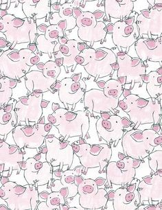 Baby Pig Quilt Fabric Babes in Farmland C3125 Pink Timeless Treasures Baby Quilt Fabric, Pig Fabric, Baby Farm Animal Fabric, Piglet, Cotton