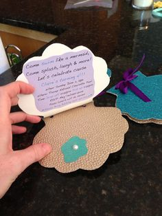 Seashell Invitations by DoodleGardenDesigns on Etsy
