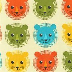 Items similar to Robert Kaufman Fabric Roar Lions Bermuda 1 yard on Etsy Tissu Minky, Cotton Blossom, Roaring Lion, Cute Lion, Lion Print, Retro Fabric, Robert Kaufman, Fabric Ribbon, Cotton Fabric