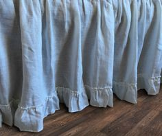 Country Ruffle Bedskirt in Natural Linen | Handcrafted by Superior Custom Linens