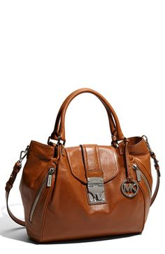MICHAEL Michael Kors 'Jenna - Large' Leather Tote- Hello Michael my name is Kristin might I slip you on my arm @claudia