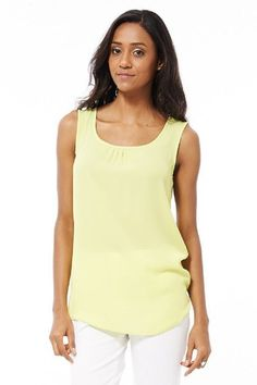 Lime Chiffon Top AVAILABLE IN PLUS SIZES �12.99