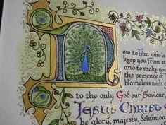 Illuminated Calligraphy Artist Print  Now Unto Him 2 by angelworx, $35.00
