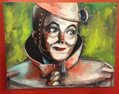 Tin Man from the Wizard of Oz acrylic painting by OnePaintinlady