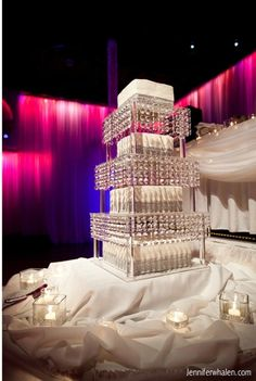 Find This Pin And More On Ideas For Lindsay S Wedding Items Similar To Crystal 4 Tier Chandelier Cake Stand
