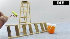 Miniature ladder for Dollhouse