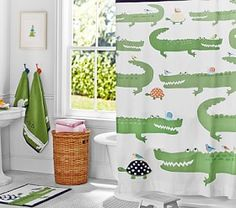 Alligator Shower Curtain #Pottery Barn Kids