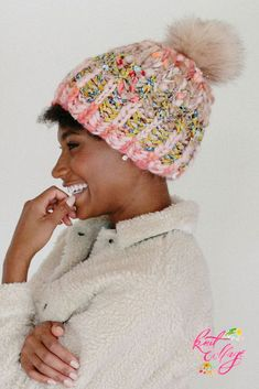 Ideas knitting hat patterns brioche for 2019 Knitting Designs, Knitting Patterns Free, Baby Knitting, Crochet Patterns, Hat Patterns, Easy Knit Hat, Cable Knit Hat, Simply Knitting, Faux Fur Pom Pom