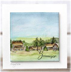 Rapport från ett skrivbord: Summer Time - Winter Homestead - Serendipity Stamps