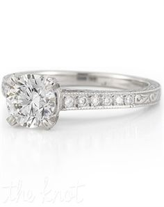 I like the diamonds down the side, with the details on the rest of the band. It gives it a continuous look. :)      Leigh Jay Nacht 2688-04 2688-04 Engagement Ring and Leigh Jay Nacht 2688-04 2688-04 Wedding Ring