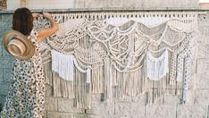 Judy Tadman is the author of this spectacular rope sculpture using crocheting techniques! I fell it so inspirational, incredibly smooth and organic. Boho Diy, Boho Decor, Black Candle Holders, Indigo Plant, Textiles Techniques, Hanging Candles, Macrame Art, Diy Wall, Wall Art