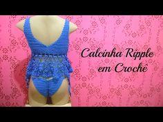 Calcinha Ripple ou calcinha empina bumbum em crochê - YouTube