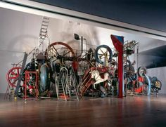 Jean Tinguely was a Swiss painter and sculptor. He is best known for his sculptural machines or kinetic art, known as metamechanics. Jean Tinguely, Robert Smith, Modern Sculpture, Sculpture Art, Alexandre Calder, Nouveau Realisme, Art Nouveau, Critique D'art, Kinetic Art