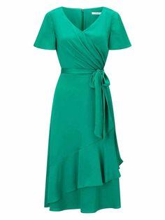 53c582235 Jacques Vert Green Dresses Womens Ruffle Dress 647944-E06  www.jacquesvertssale.com/