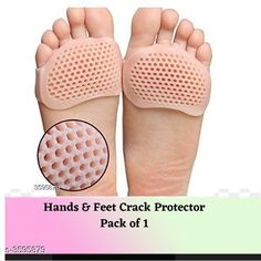 Orthopedics Hands & Feet Crack Protector  *Material* Silicone Gel  *Size* Free Size  *Description* It Has 1 Pair Of Metatarsal Ball Silicon Gel  *Sizes Available* Free Size *   Catalog Rating: ★4 (1507)  Catalog Name: Anti Hands & Feet Crack Protector Vol 3 CatalogID_501276 C125-SC1569 Code: 581-3595879-