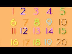 Recognizing Numbers I watched this before I pinned it, its the best one I've seen so far. Math Songs, Kindergarten Songs, Preschool Music, School Songs, School Videos, School Stuff, Numbers For Kids, Math Numbers, Numbers Preschool