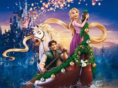 Tangled, Bruce, Eugene, Floating Lanterns, Pascal, Rapunzel, Tangled