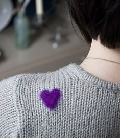 Wear your Heart on your Sleeve, a DIY project using Woolfiller #diy #hearts