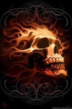 I have this poster on my wall, (Tammy S.) :) - I have this poster on my wall, (Tammy S. Skull Tattoo Design, Skull Design, Skull Tattoos, Art Tattoos, Biker Tattoos, Tatoos, Dark Fantasy Art, Dark Art, Brust Tattoo