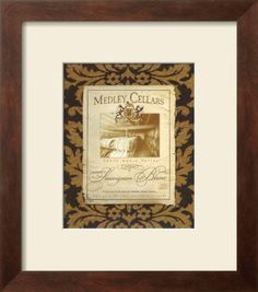 California Wine I Framed Art Print  #DWRdining