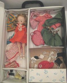 Old American Character Betsy McCall Doll w/ Clothes Shoes & Penny Brite Case
