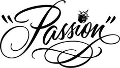 Passion: lovely retro handwriting-style script by Charles Borges de Oliveira (via Lettercult.)