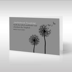 Die dezente, religionsneutrale Dankeskarte, die ein Pusteblumenmotiv zeigt, besticht allein durch ihre Anschaulichkeit und Bescheidenheit. Die wegwehenden Flugschirme dieser bezaubernden Löwenzahnillustration stehen für den Verstorbenen, der von uns gegangen ist. Das Ablösen ist der endgültige und unwiderrufliche Abschluss nach einem ereignisreichen Leben. https://www.design-trauerkarten.de/produkt/flug-der-pusteblume-2/