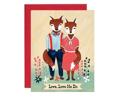 10 fox postcards on Etsy. I love the artwork on all these postcards!