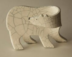 Ceramic Polar Bear Cub.... di shoefactory su Etsy
