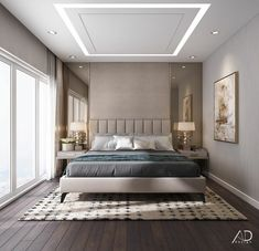 Vinhomes central park on behance. House Ceiling Design, Ceiling Design Living Room, Bedroom False Ceiling Design, False Ceiling Living Room, Luxury Bedroom Design, Bedroom Bed Design, Modern Master Bedroom, Home Decor Bedroom, Bedroom Ideas