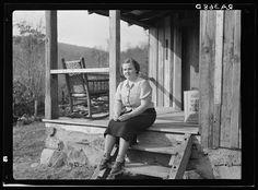 Arthur Rothstein. School teacher at Corbin Hollow. Shenandoah National Park, Virginia. 1935 Oct. Library of Congress.
