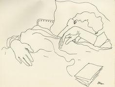 """From Jean Cocteau, """"25 dessins d'un dormeur,"""" Lausanne, H.-L. Mermod, s.d. [1929]."""