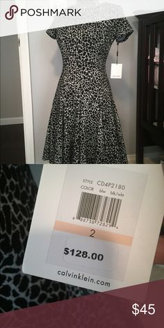 Calvin Klein dress Brand new dress by Calvin Klein.  Nice thick fabric that also has some stretch. The cut of this dress is perfect to accentuate your curves! Calvin Klein Dresses