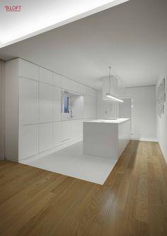 Vista geral da cozinha  Fotografia: José Lobo