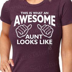 Awesome Aunt Tshirt womens tshirt Gift for by signaturetshirts