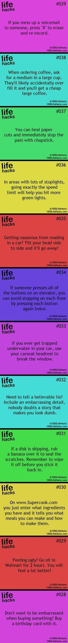 I love life hacks! So many great ideas!!