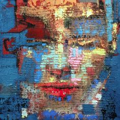 Fabio Modica | Prisoner of matter XV - mixed media on canvas - cm 94x105 | 37x41,3 inches | Sorelle Gallery - USA