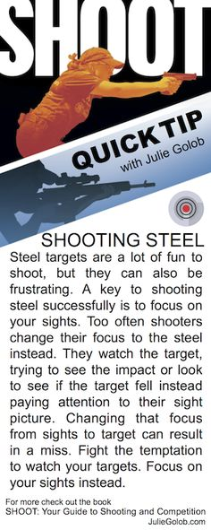 SHOOT Quick Tip - Shooting Steel from JulieGolob.com & SHOOT: Your Guide to Shooting and Competition