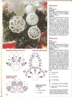 "Photo from album ""Снежинки"" on Yandex.Disk - Her Crochet Crochet Tree, Crochet Ball, Christmas Crochet Patterns, Crochet Christmas Ornaments, Easter Crochet, Burlap Christmas, Christmas Baubles, Christmas Angels, Crochet Motif"