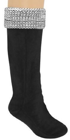 62b85a238  9.95 Amazon.com  Capelli New York Ladies Tall Rain Boot Liner With marled  Purl