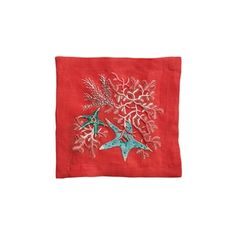 KIM SEYBERT Sea Odyssey Cocktail Napkin Set Of 6 Coral/Sea/Turquoise $28 * BEST PRICE GUARANTEE * FREE WORLD SHIPPING OR PICK UP AVAILABLE * www.brightonmelvin.com