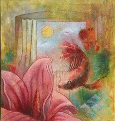 Igor Holas - Red Fish, 2012, oil on canvas, 65x70cm, www.igorholas.cz