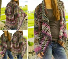 Crochet Diy DIY Crochet Cardigan Sweater Coat Free Patterns - It's time to get out the hooks and crochet for the warm wear. if you are looking for crochet thin coat or card Diy Crochet Cardigan, Crochet Diy, Crochet Coat, Crochet Jacket, Crochet Scarves, Crochet Shawl, Crochet Clothes, Lace Jacket, Crochet Sweaters