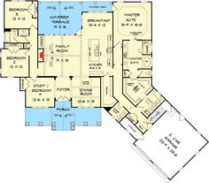 Houseplan 59952 This Well Designed Plan Provides Many